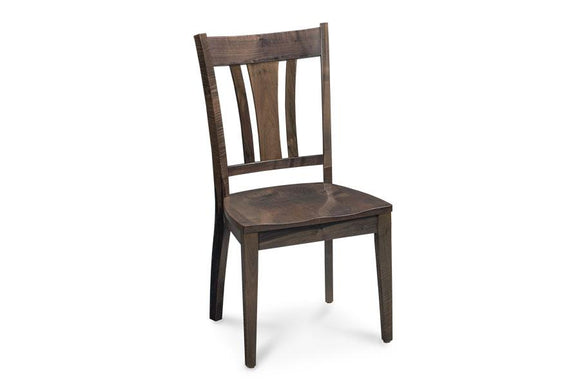 Simply Amish Dining Express Ship Sheffield Side Chair-Silver Creek