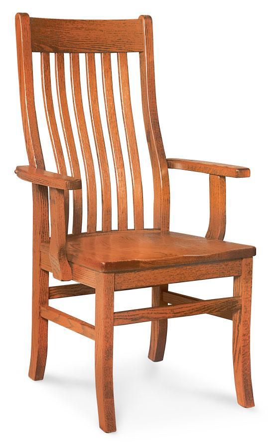 Simply Amish Dining Express Ship Urbandale II Arm Chair