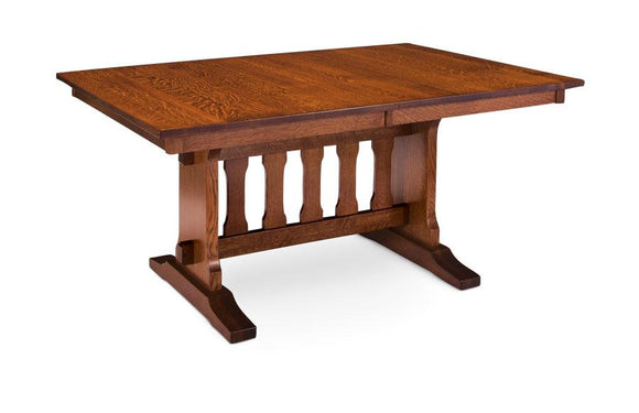 Simply Amish Dining Franklin Trestle II Table 36 inch x48 inch Solid Top