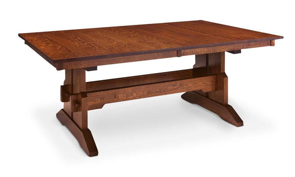 Simply Amish Dining Franklin Trestle Table 42 inch x72 inch 4-Leaves