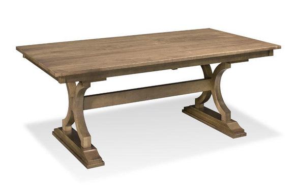 Simply Amish Dining Hamptons Trestle Table 42 inch x66 inch Solid Top