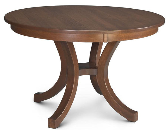 Simply Amish Dining Loft II Round Trestle Table 48 inch 1-Leaf
