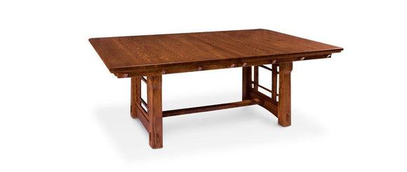 Simply Amish Dining MaKayla Trestle Table 42 inch x72 inch Solid Top
