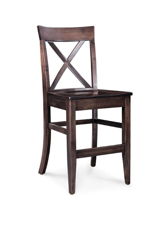 Simply Amish Dining Maxwell Stationary Barstool 30 inch h