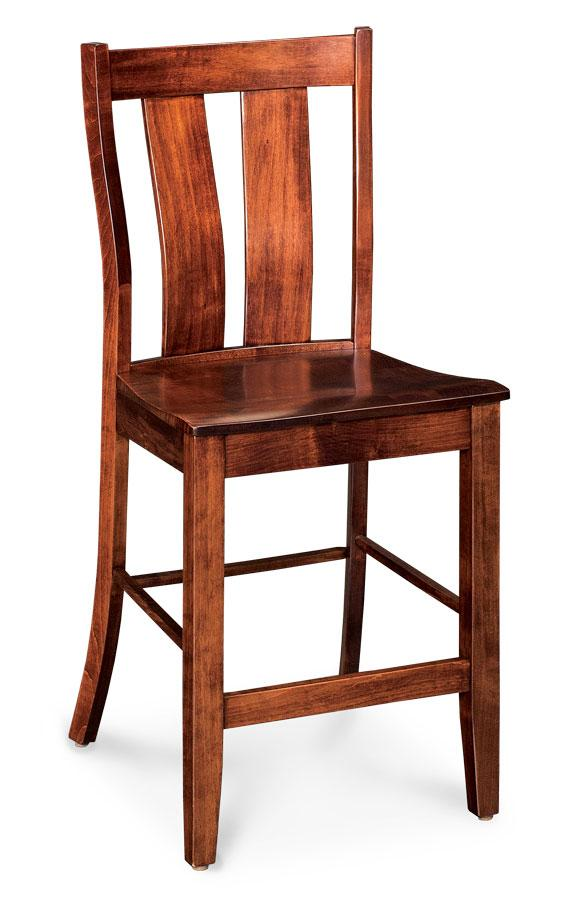Simply Amish Dining Mitchell Stationary Barstool 30 inch h