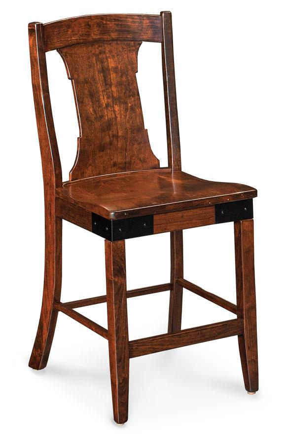 Simply Amish Dining Montauk Stationary Barstool 30 inch h