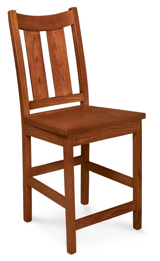 Simply Amish Dining Newton Stationary Barstool 24 inch h