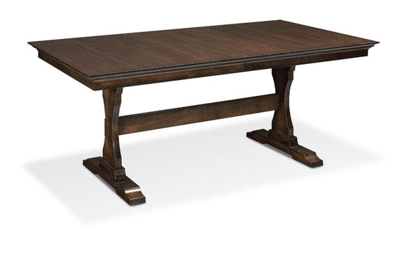 Simply Amish Dining Riverview Trestle II Table 36 inch x48 inch Solid Top