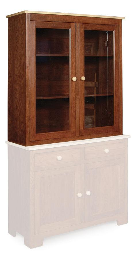 Simply Amish Dining Shaker Closed Hutch Top 42 inch w Beveled