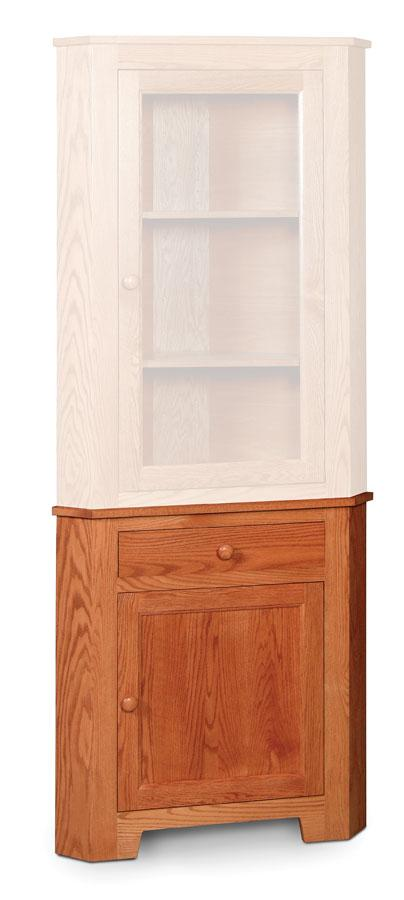 Simply Amish Dining Shaker Corner Hutch Base 22 3/4 inch