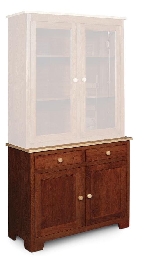 Simply Amish Dining Shaker Hutch Base 42 inch w 18 inch