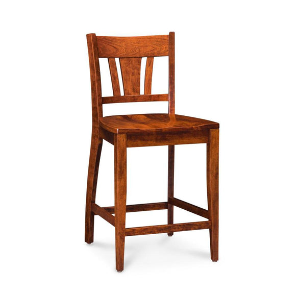 Simply Amish Dining Sheffield Stationary Barstool 30 inch h