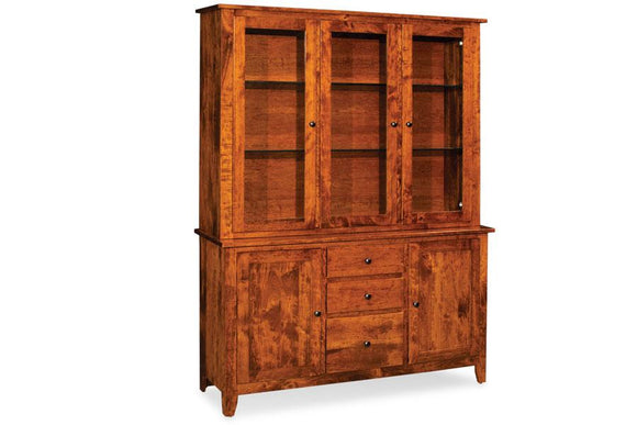 Simply Amish Dining Shenandoah Closed Hutch Top 60 1/4 inch Beveled