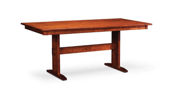 Simply Amish Dining Shenandoah Trestle II Table 36 inch x48 inch Solid Top