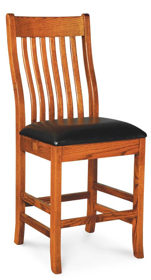 Simply Amish Dining Urbandale II Stationary Barstool 24 inch h