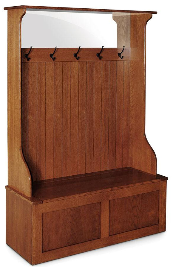 Simply Amish Entry Mission Hall Bench(5 Hooks) 48 1/2 inch