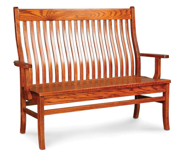 Simply Amish Entry Urbandale II Arm Bench
