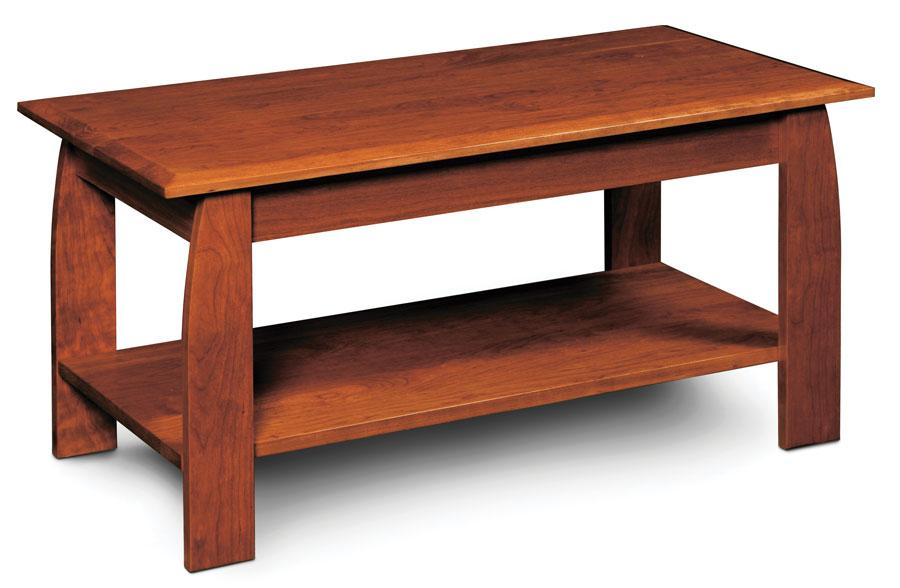 Simply Amish Aaralyn Coffee Table In Your Choice Of Wood And Finish