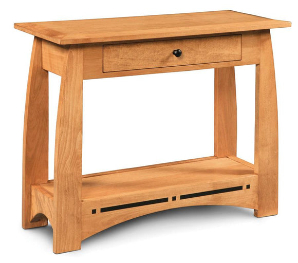 Simply Amish Living Aspen 1-Drawer Console Table with Inlay