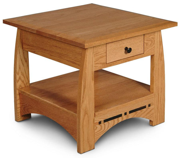Simply Amish Living Aspen 1-Drawer End Table with Inlay