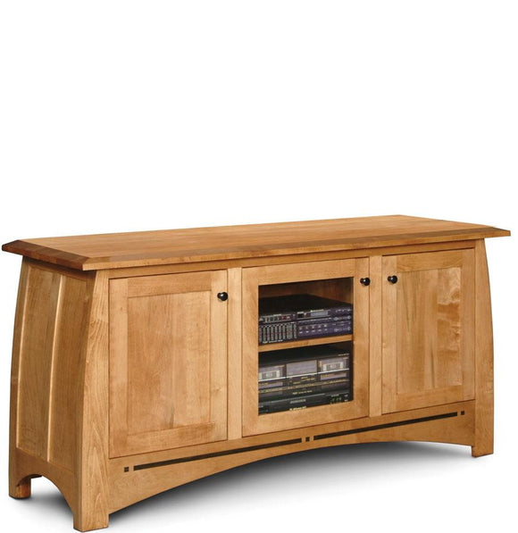 Simply Amish Living Aspen 3-Door TV Stand with Inlay