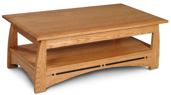 Simply Amish Living Aspen Coffee Table with Inlay 48 inch x27 inch