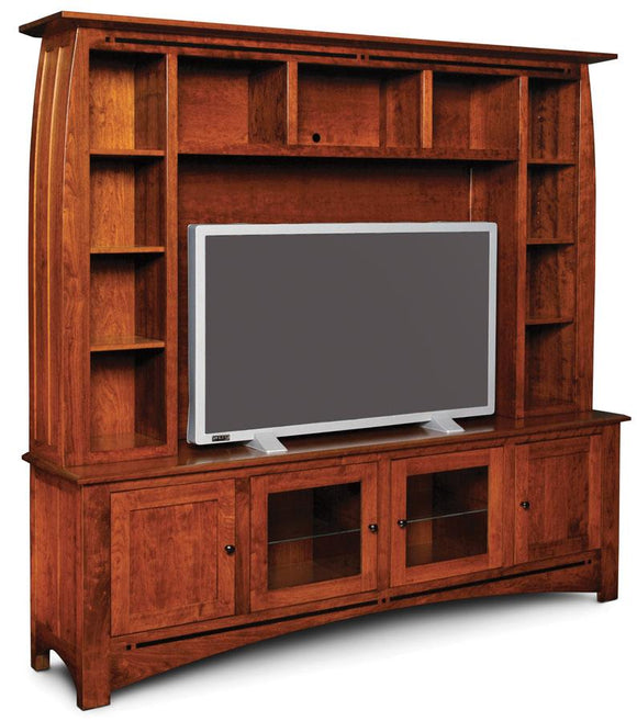Simply Amish Living Aspen Deluxe Entertainment Center with Inlay, Base Only
