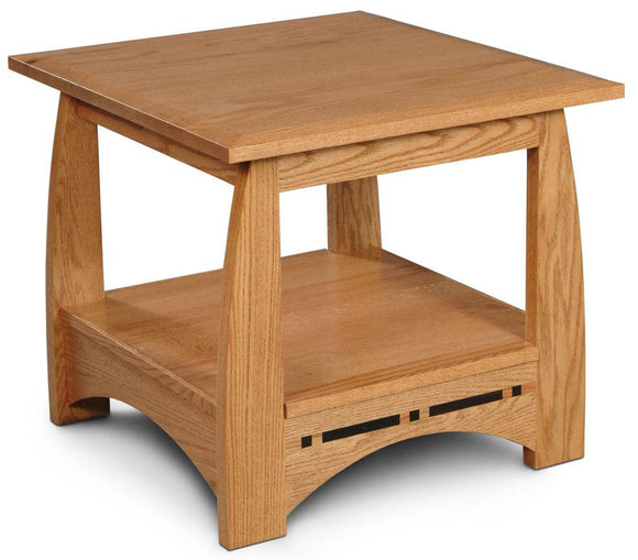 Simply Amish Living Aspen End Table with Inlay