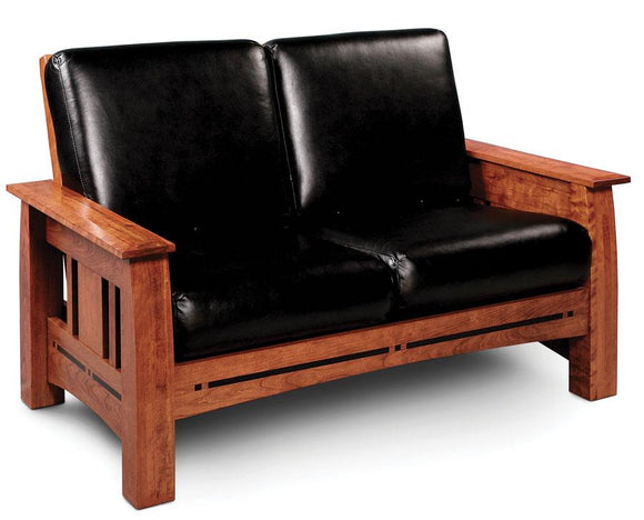Simply Amish Living Aspen Loveseat Recliner with Inlay