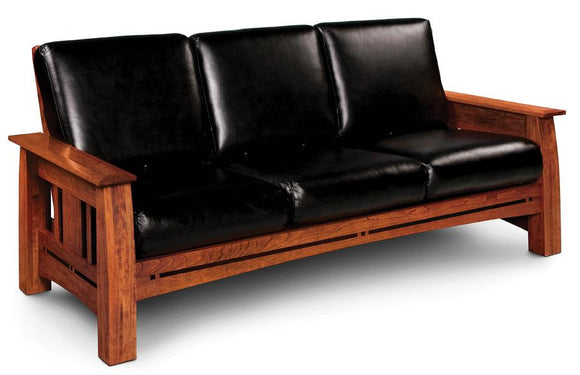 Simply Amish Living Aspen Sofa Recliner With Inlay