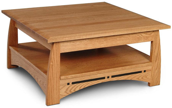Simply Amish Living Aspen Square Coffee Table with Inlay 36 inch x36 inch