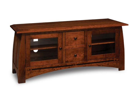 Simply Amish Living Aspen TV Console with Inlay 60 1/2 inch