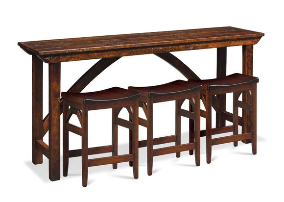 Simply Amish Living B&O Railroad Console Bar Table