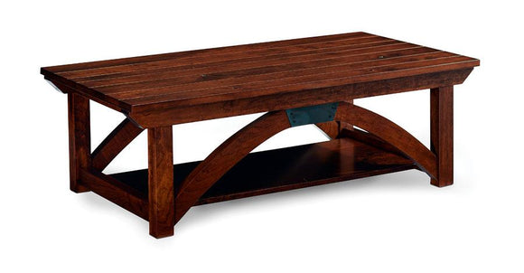 Simply Amish Living B&O Railroad Trestle Bridge Coffee Table 42 inch x22 inch