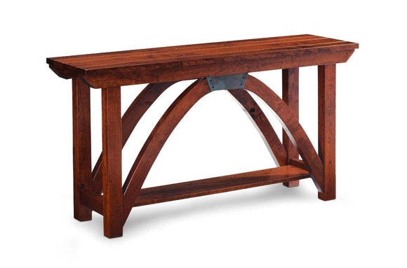 Simply Amish Living B&O Railroad Trestle Bridge Sofa Table 54 inch