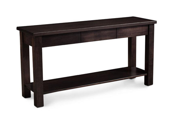 Simply Amish Living Crawford Sofa Table with Drawers 54 inch