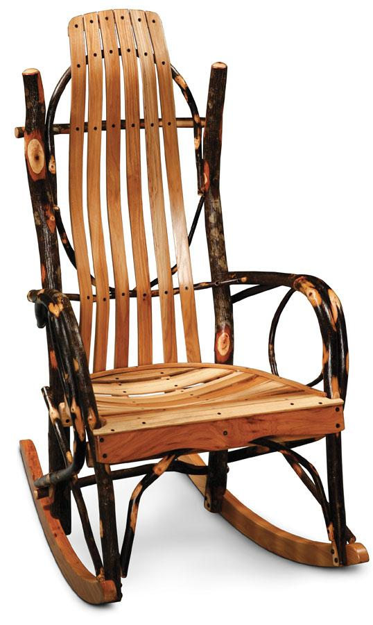 Simply Amish Living Express Ship Cherry Hollow Bentwood Rocker-Jumbo