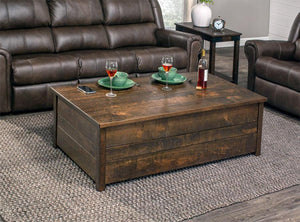 Simply Amish Living Express Ship Greenville Incognito Coffee Table
