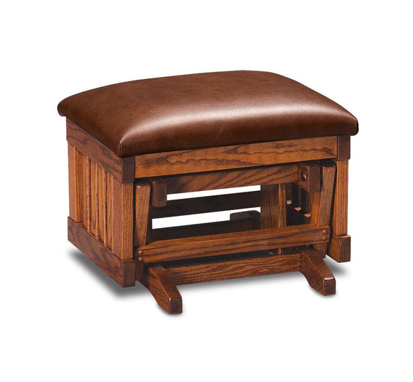 Simply Amish Living Express Ship Urbandale Glider Ottoman
