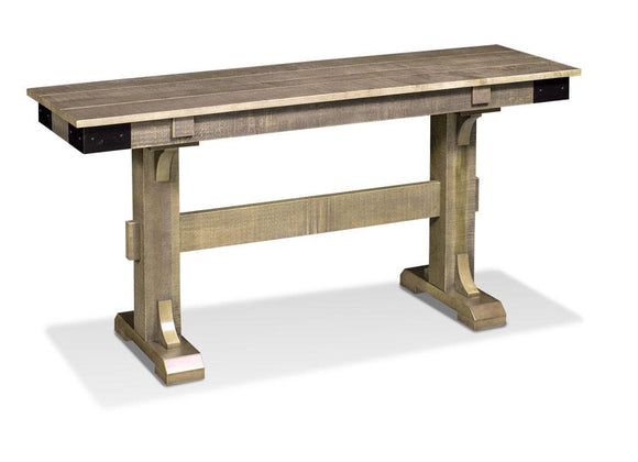 Simply Amish Living Montauk Convertible Sofa Dining Table (Rough Sawn Standard)