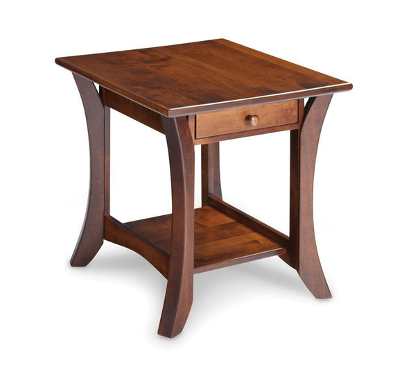Simply Amish Living Park Avenue 1-Drawer Open End Table