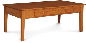Simply Amish Living Shaker 1-Drawer Coffee Table, Lift Top