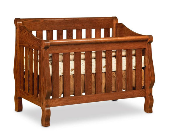 Simply Amish Nursery Sleigh Convertible Crib