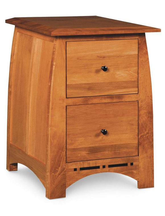 Simply Amish Office Aspen File Cabinet with Inlay