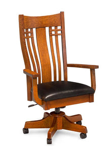 Simply Amish Office Bradley Arm Desk Chair