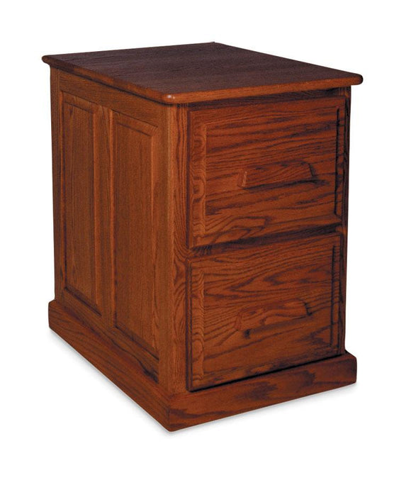 Simply Amish Office Classic File Cabinet 2 Drawer Plain Side