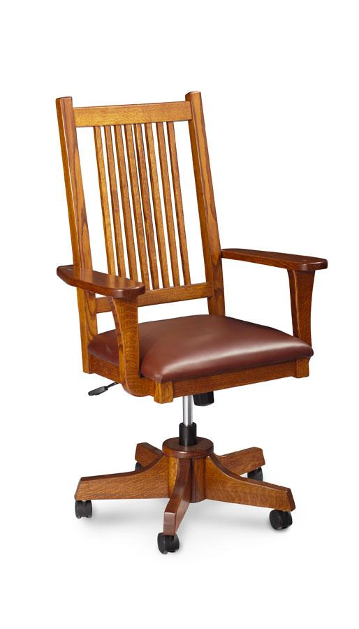 Simply Amish Office Express Ship Prairie Mission Arm Desk Chair
