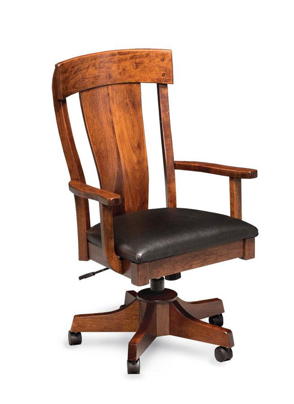Simply Amish Office Harlow Arm Desk Chair