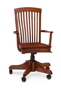 Simply Amish Office Justine Arm Desk Chair