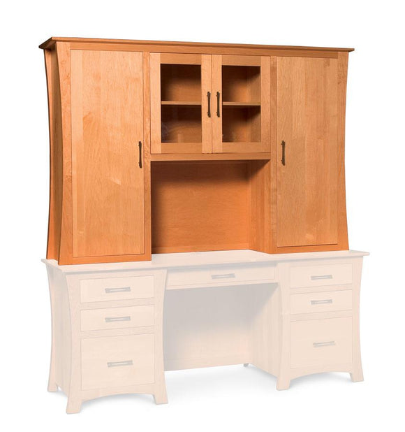 Simply Amish Office Loft Hutch Top for Desk or Credenza